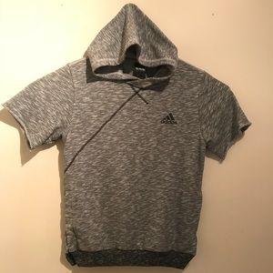 Adidas Mens Short Sleeve Hoodie Size Medium
